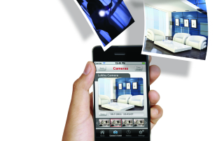 the image is displaying the smartphone security app which you can download and use with the LightSys camera